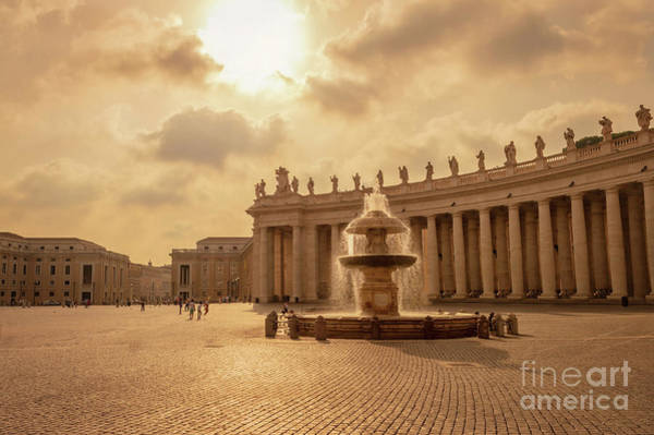 Saint Peters Square Photograph - St Peter's Square In Vatican City by Louise Poggianti