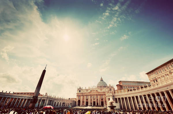 Saint Peters Square Photograph - St. Peter's Square In Vatican City by Michal Bednarek