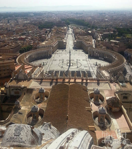 Photograph - St. Peter's Square Of The Vatican by Gregory Dyer