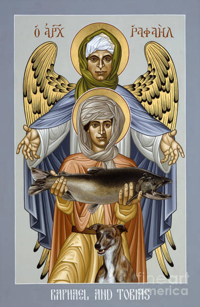 Painting - St. Raphael And Tobias - Rlrat by Br Robert Lentz OFM