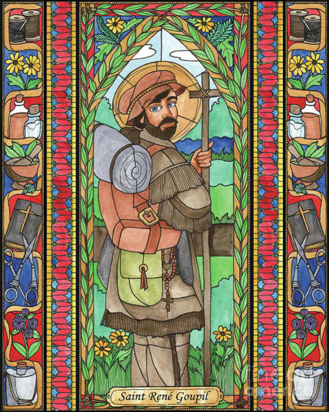 Painting - St. Rene Goupil by Brenda Nippert