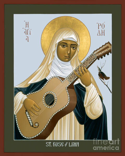 Painting - St. Rose Of Lima - Rlrol by Br Robert Lentz OFM