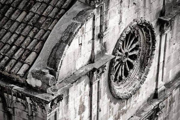 Photograph - St. Saviour Church Window - Black And White by Stuart Litoff