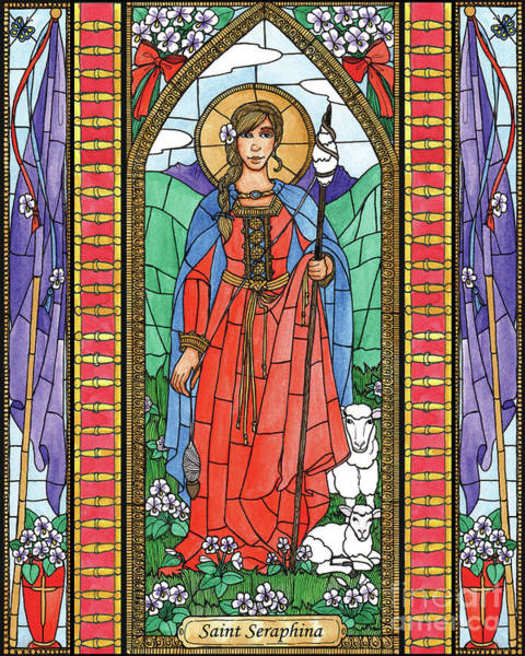Painting - St. Seraphina by Brenda Nippert