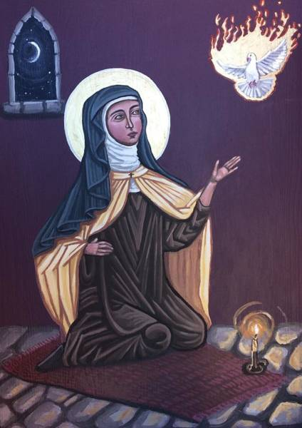 Painting - St. Teresa Of Avila by Kelly Latimore
