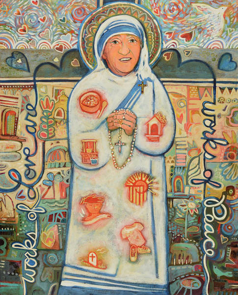 Sick Wall Art - Painting - St. Teresa Of Kolkata by Jen Norton