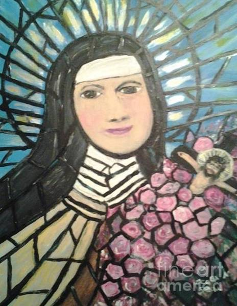 Leaded Glass Painting - St. Teresa Of Lisieux, France by Seaux-N-Seau Soileau
