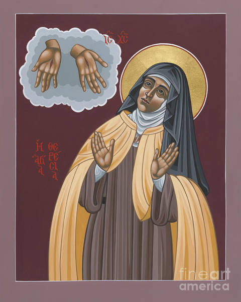 Painting - St Teresa Of Avila 177 by William Hart McNichols
