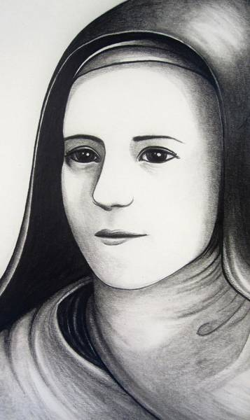 The Mystic Drawing - St. Therese Of Lisieux by Mary Ellen Frazee