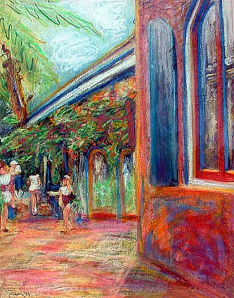 Pastel - St. Thomas Sidewalk by Banning Lary