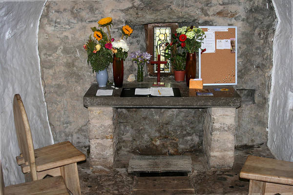 Photograph - St. Trillo's Chapel - North Wales - Interior by John Quigley