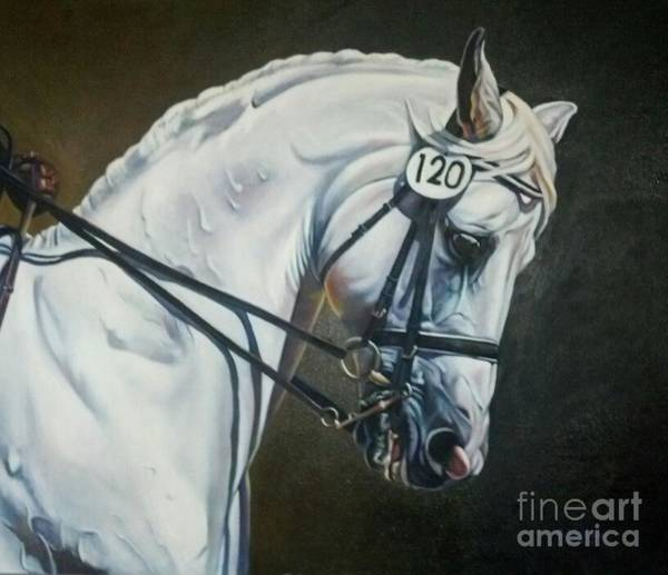 Dressage Painting - St. Tropez by Suzanne Leonard