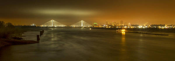 Photograph - Sta Musial Bridge And St Louis Skyline by Garry McMichael