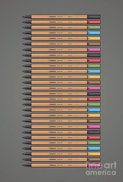 Stabilo Point 88 Fineliner Poster Art Print