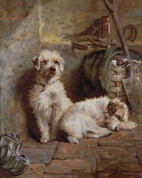 Spade Painting - Stablemates by John Fitz Marshall