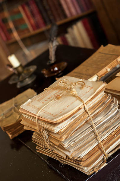 Boyaca Photograph - Stack Of Old Documents by Jess Kraft