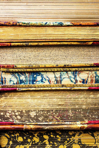 Wall Art - Photograph - Stacked Book Pages by Garry Gay