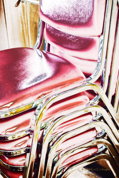 Digital Art - Stacked Chairs Abstract 2. by Kae Cheatham