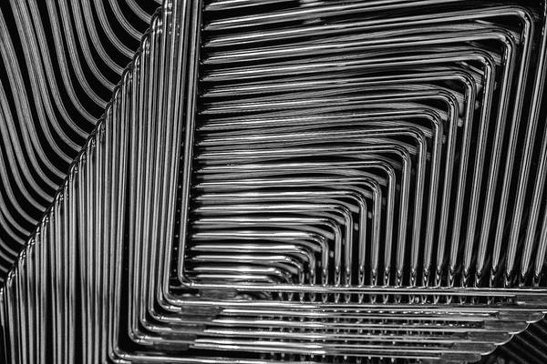 Photograph - Stacked Chairs by M G Whittingham