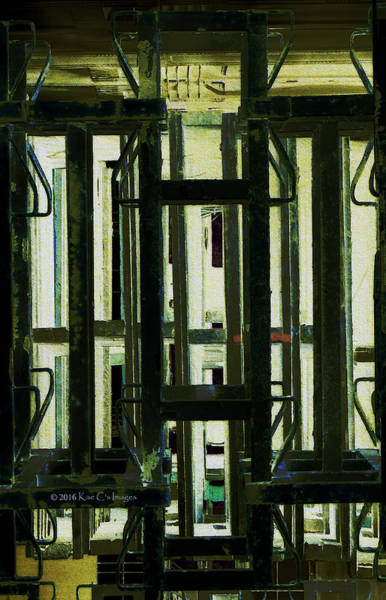 Digital Art - Stacked Metal Pallets 2 by Kae Cheatham