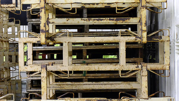 Wall Art - Photograph - Stacked Metal Pallets by Kae Cheatham