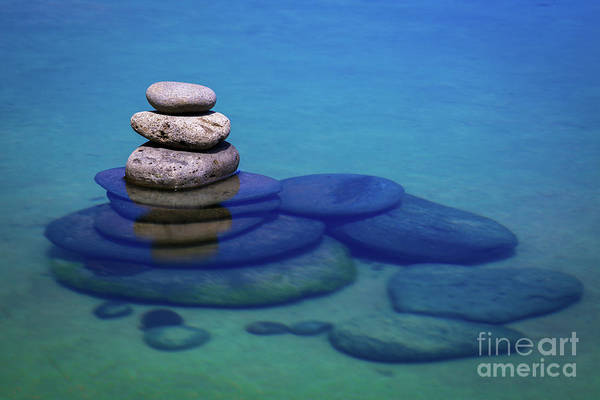 Photograph - Stacked Rocks by Anthony Michael Bonafede