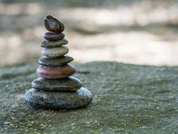 Photograph - Stacking Stones 7334-042518-1cr by Tam Ryan