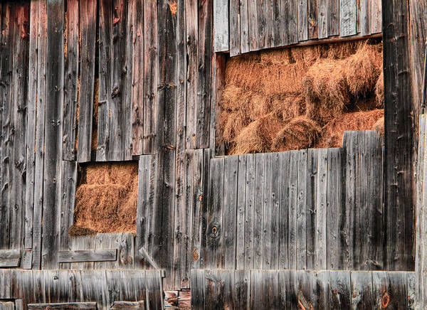Photograph - Stacks Of Hay In The Barn by Dan Sproul