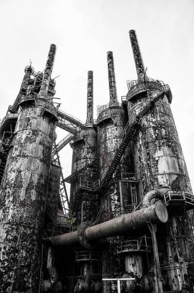 Photograph - Stacks Of Steel - Bethlehem Pa by Bill Cannon