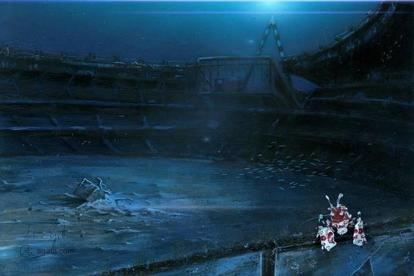 Ocean Scape Digital Art - Stadio Delle Alpi by Andrea Gatti