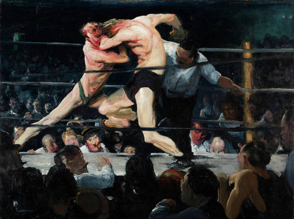 Boxing Painting - Stag At Sharkey's, 1909 by George Bellows