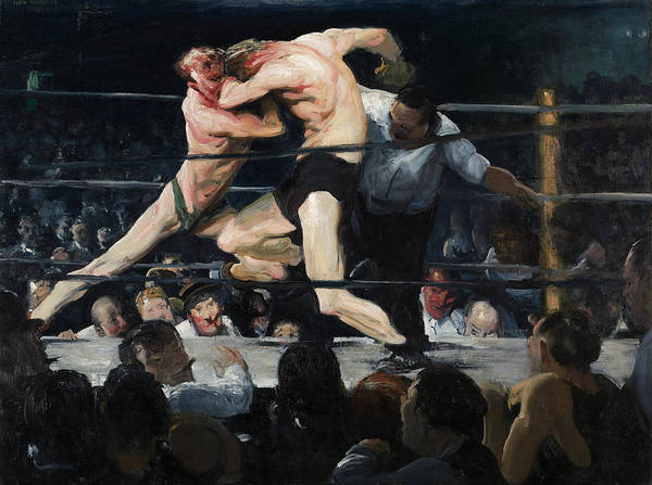 Boxing Painting - Stag At Sharkey's - George Bellows by War Is Hell Store
