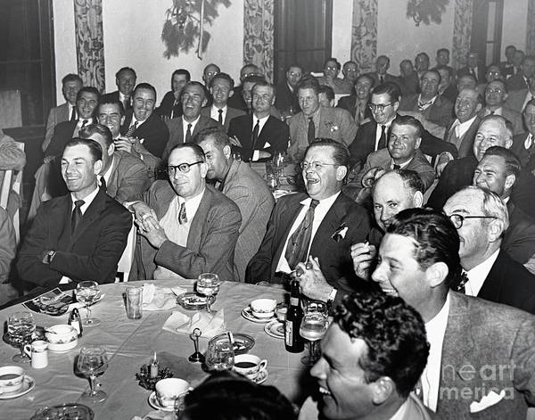 Photograph - Stag Dinner And Awards Monterey Peninsula Country Club, Pebble Beach 1950 by California Views Archives Mr Pat Hathaway Archives