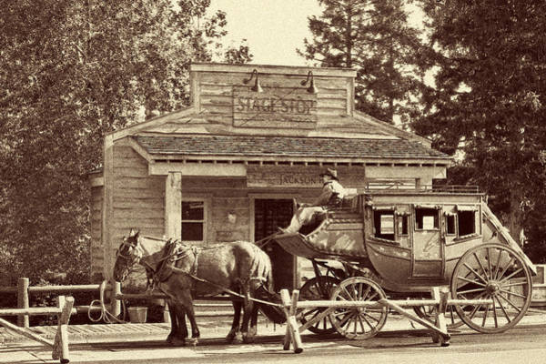 Photograph - Stage Coach Stop - Jackson Hole Wy by Christine Till