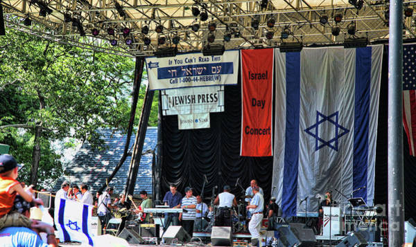Shofar Wall Art - Photograph - Stage Music Israel Central Park  by Chuck Kuhn