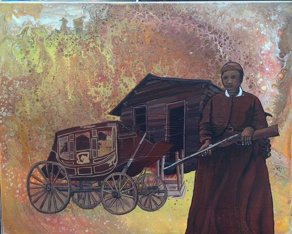 Painting - Stagecoach Mary by Karen Buford