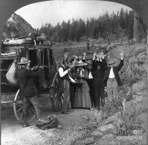Photograph - Stagecoach Robbery, 1911 by Granger