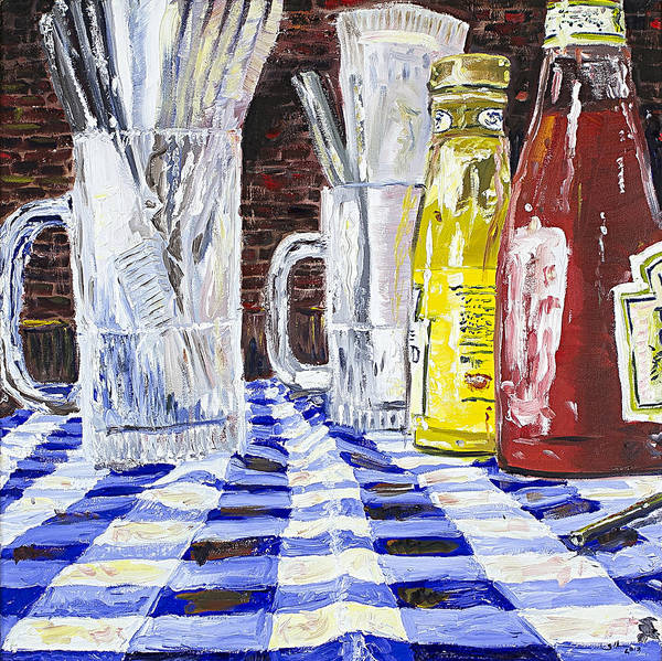 Catsup Painting - Stagger Inn by Steve Hartman