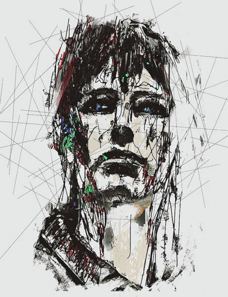 Digital Art - Staggered Abstract Portrait by Galen Valle