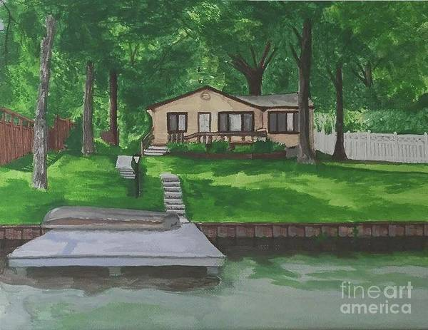 Monticello Painting - Stahl On The Big Monon by Victoria C Clarke