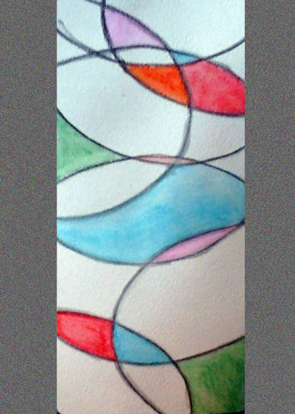 Painting - Stain Glass by Loretta Nash