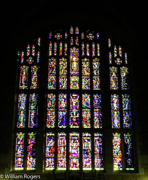 Wall Art - Photograph - Stain Glass Window At The West Point Chapel by William Rogers