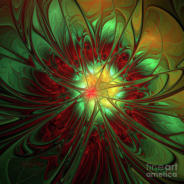 Digital Art - Staine Glass by Deborah Benoit
