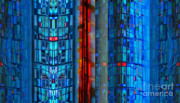 Photograph - Stained Glass Abstract by Jeff Breiman