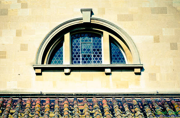 Photograph - Stained Glass And Rusty Roof by Christi Kraft