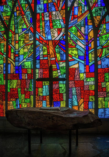 Photograph - Stained Glass And Stone Altar by Susie Weaver