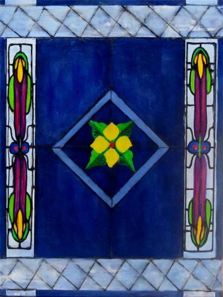 Leaded Glass Painting - Stained Glass by Carol Allen Anfinsen