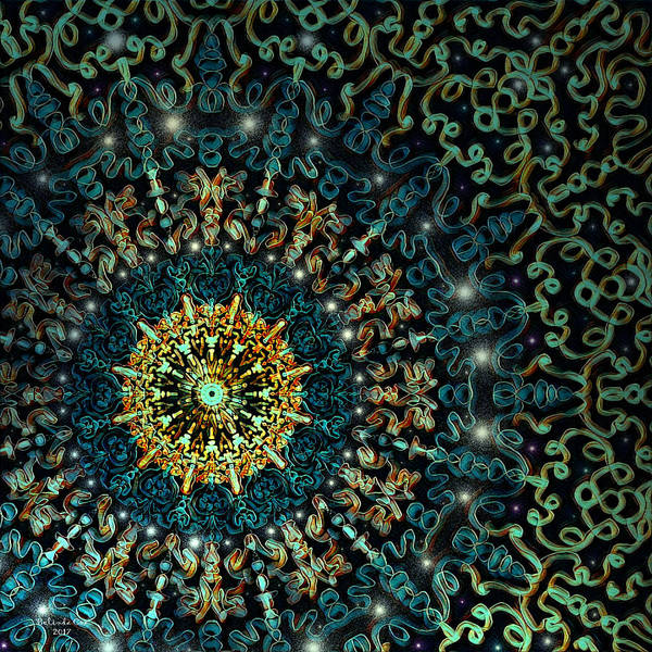 Digital Art - Stained Glass Ceiling by Artful Oasis