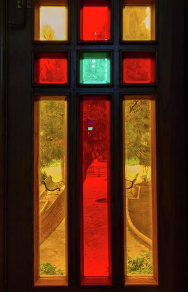 Nature Wall Art - Photograph - Stained Glass Church Window View by Iordanis Pallikaras
