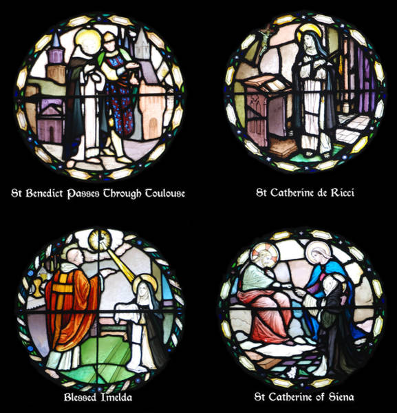 Wall Art - Photograph - Stained Glass Designs In The Benedictine Tradition by Philip Ralley